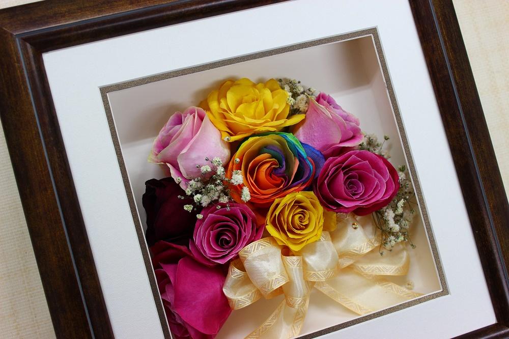 レインボーの薔薇